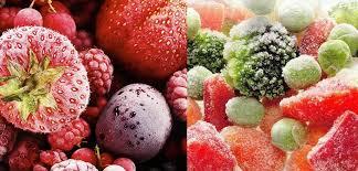 Замороженные овощи и фрукты